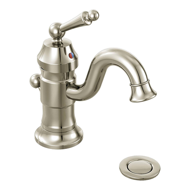Moen S411ORB Waterhill One-Handle High Arc Bathroom Faucet, Oil ...