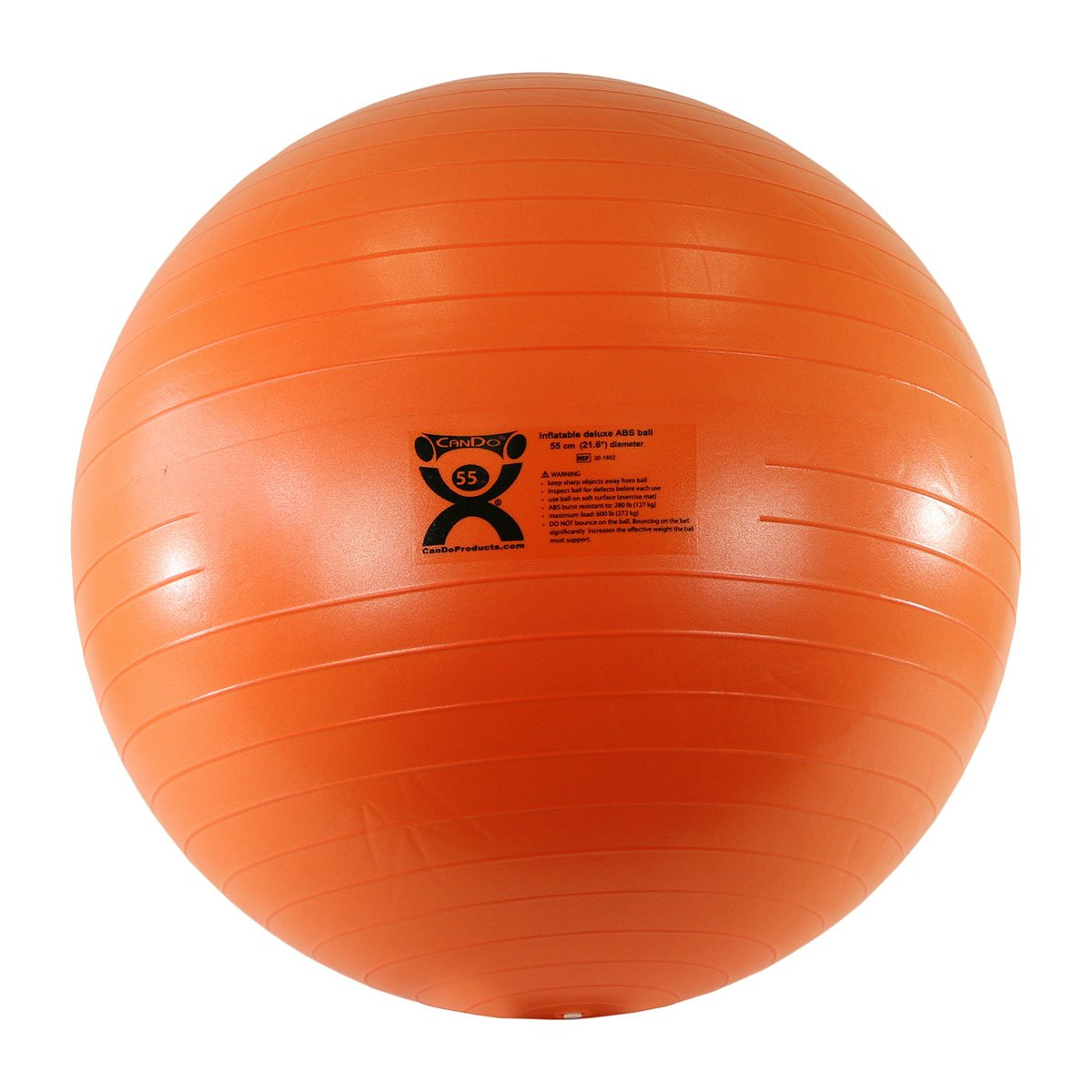 Cando - 30-1852 Deluxe ABS Inflatable Exercise Ball, Orange, 21.6""