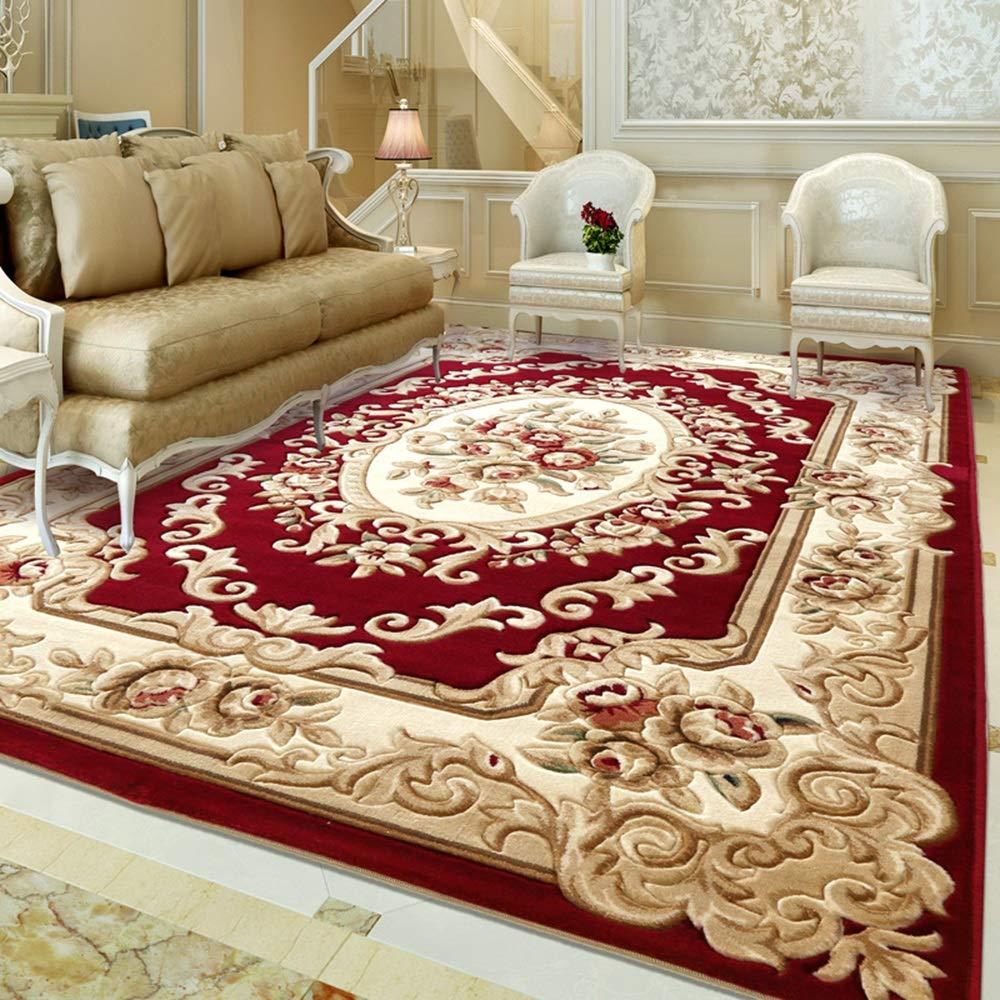 Unbekannt Teppich Europäischen Stil Einfache Verdickung 15 MM Home Cut Blume Teppich Wohnzimmer Schlafzimmer Nachttisch Couchtisch Teppich (größe   133x190cm(52