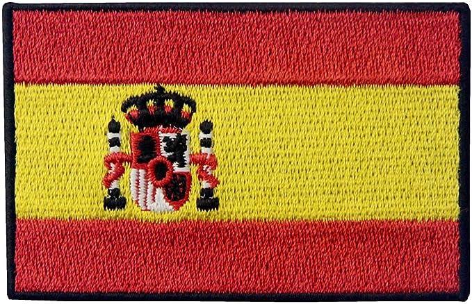 Bandera de España Español EEmblema nacional Parche Bordado de Aplicación con Plancha: Amazon.es: Hogar