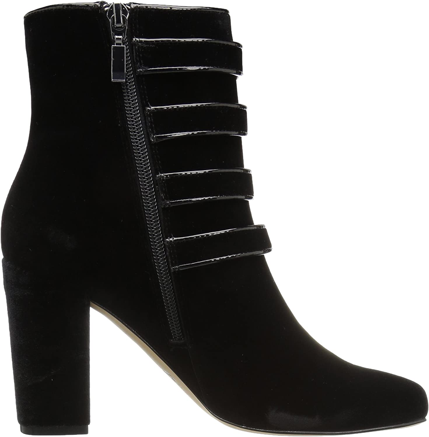 The Fix Womens Sadie Military Style 4 Strap Jewel Buttons Ankle Boot Brand