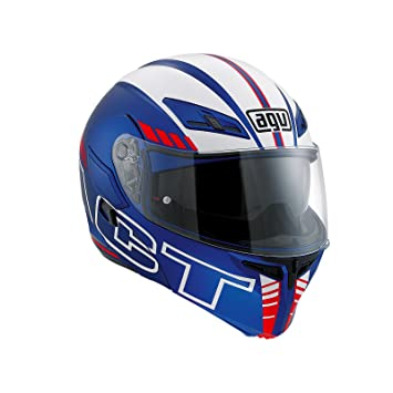 AGV Casco Moto Compact ST E2205 Multi plk, Seattle Matt Blue/White/Red