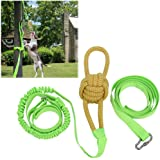 Aeanm Outdoor Hanging Bungee Dog Toy, Interactive Tether Tug Toy with Chew Rope Toy for Pitbull & Small to Large Dogs to…