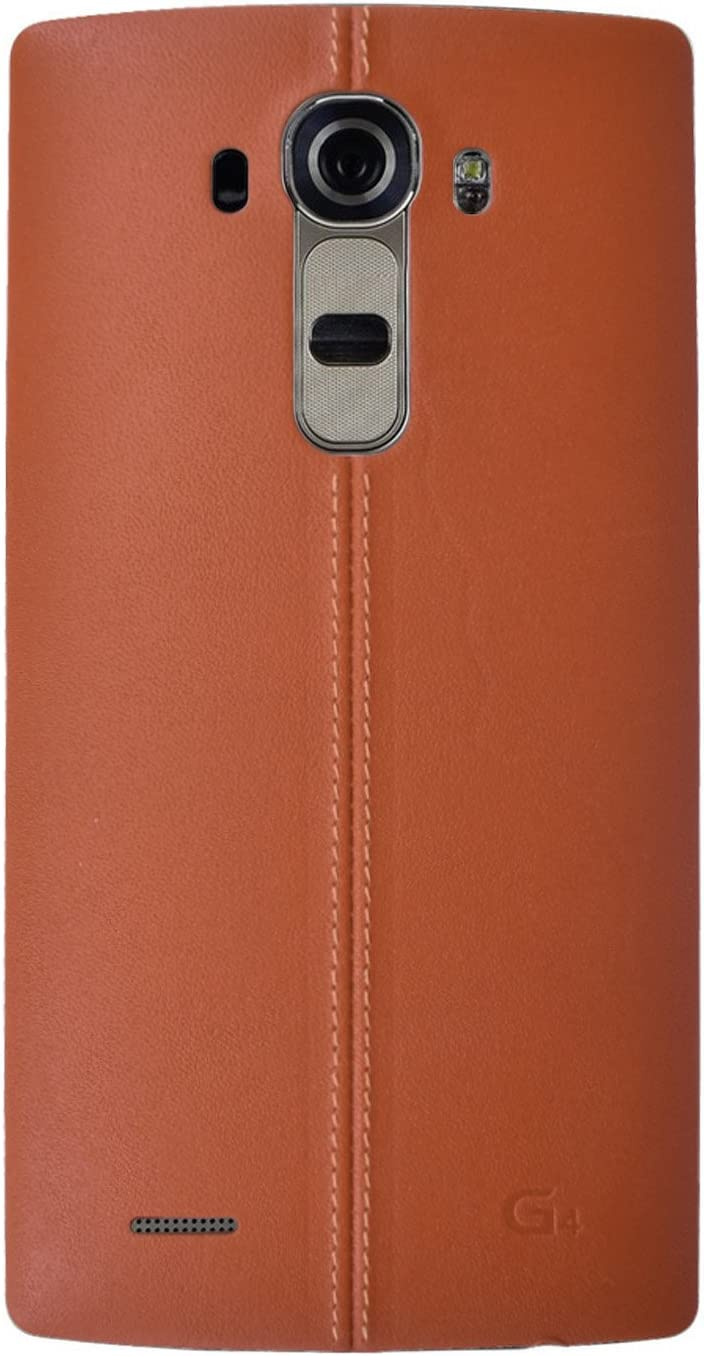 Dogxiong Brown Genuine Leather Back Rear Housing Battery Door Cover Cover Replacement for for LG G4 H815 H811 H810 VS986 VS999 US991 F500 LS991