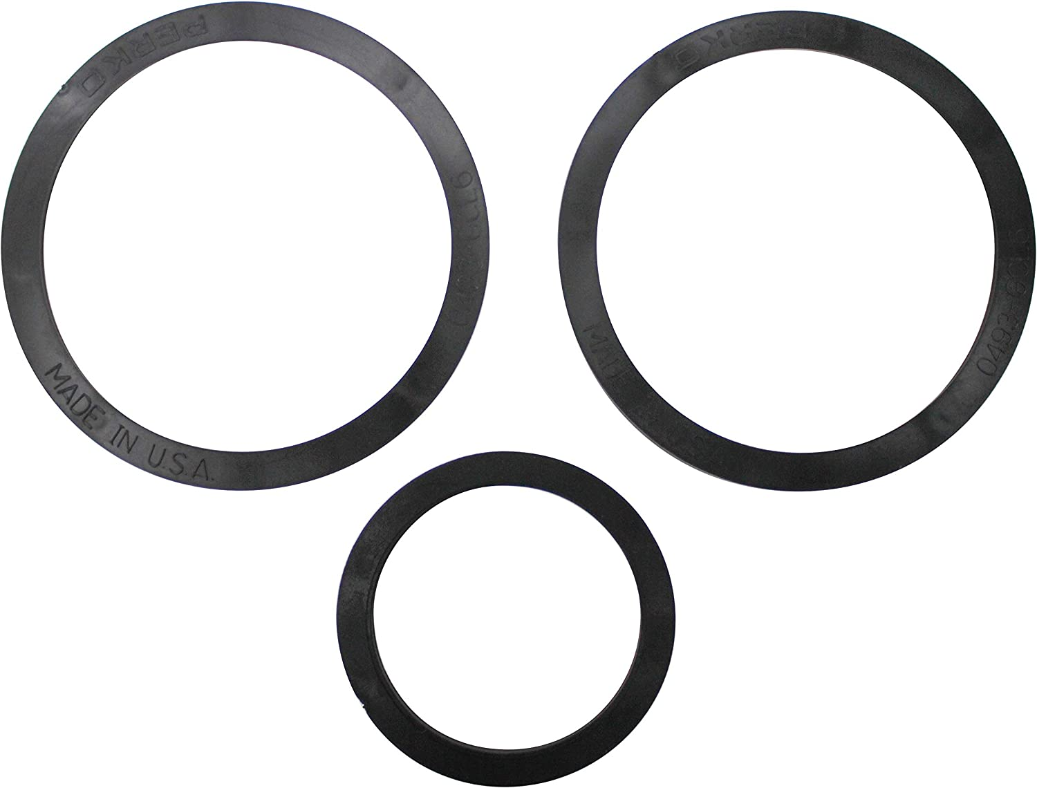 Rubber-1 and 1-1//4 Perko 3004.4565 0493DP799R Intake Water Strainer Spare Gasket Kit