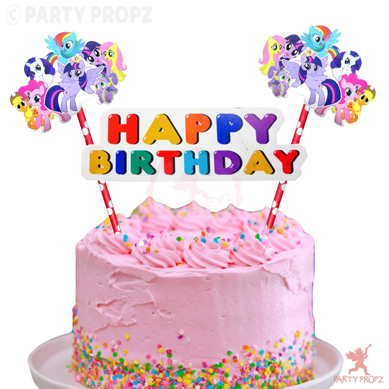 Pleasing Party Propz Set Of 1 My Little Pony Happy Birthday Cake Topper For Funny Birthday Cards Online Ioscodamsfinfo