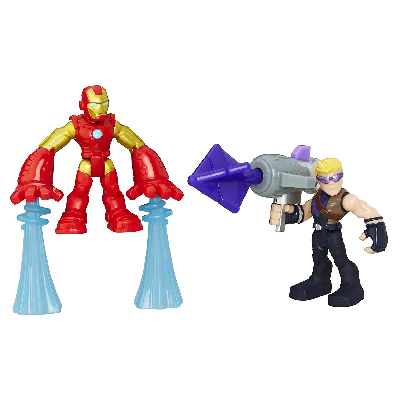 5 Action Figures Marvel Super Hero Avengers Power Up Squad Playskool
