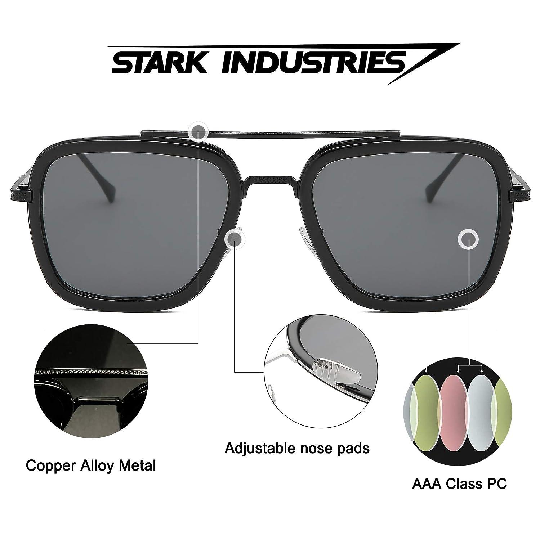 Amazon.com: Gafas de sol estilo aviador retro con marco de ...