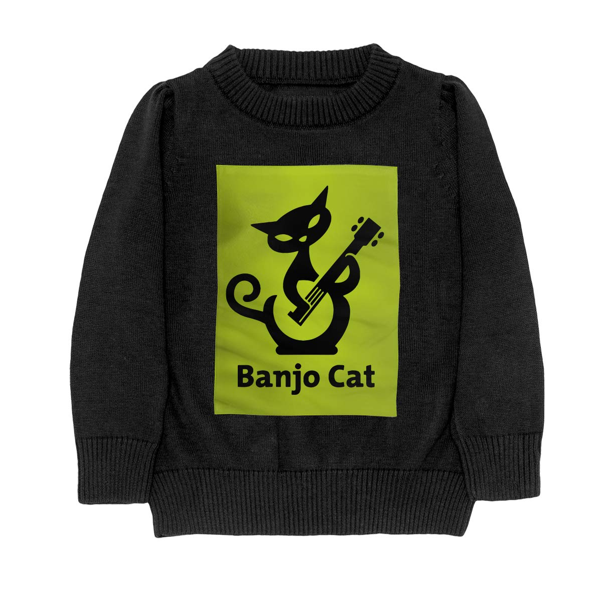 Cat Play Banjo Casual Adolescent Boys Girls Unisex Sweater Keep Warm