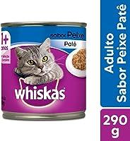 Ração Úmida Para Gatos Whiskas Lata Patê de Peixe Adultos 290g