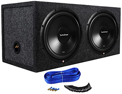 rockford fosgate prime r2d2 12 12 inches 500 watt rms power dual 2 ohm car audio subwoofers bundled with 12 inches sealed subwoofer enclosure and dual Russound Wiring