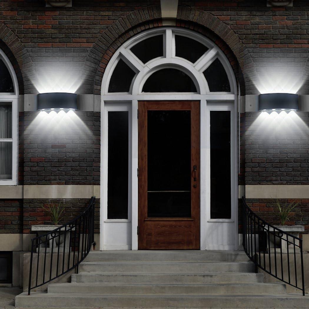 L/ámpara de pared LED 8W Moderno IP65 a prueba de agua iluminaci/ón aplique de aluminio luz decorativa para la sala de estar Dormitorio Hall escalera camino (Blanco c/álido)