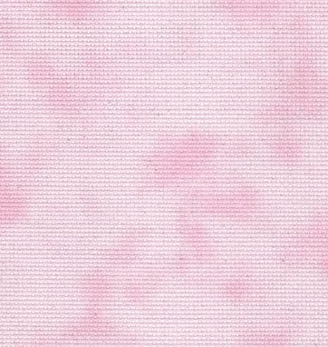 Fabric Flair 14 Count Aida Cross Stitch Embroidery fabric 25cmx45cm -  Choice of 28 colours (Cloud Pink)