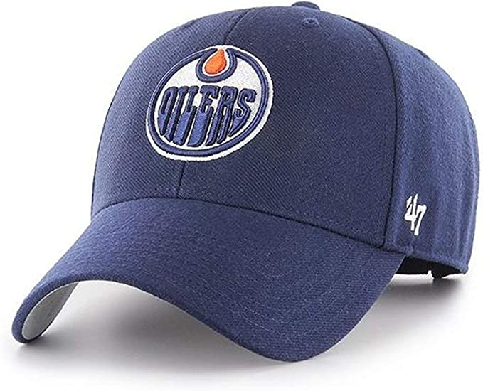 47 Forty Seven Brand Mvp Edmonton Oilers Curved Visor Snapback Cap Light Navy Nhl Amazon Ca Clothing Accessories