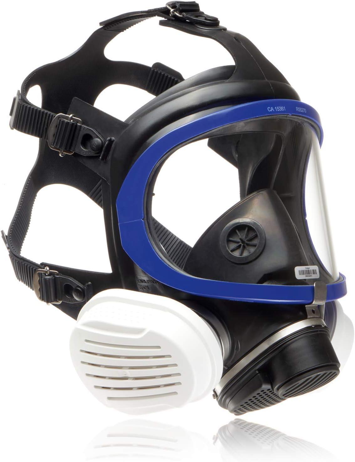 Dräger X-plore 5500® Máscara Completa de protección con filtros reemplazables P3 R para Trabajos químicos de Construcción, Carpintería y Bricolaje