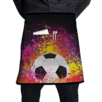 c7301dd3b1c91 Amazon.com  Charm Trend Soccer Football Funny Aprons for Women with ...