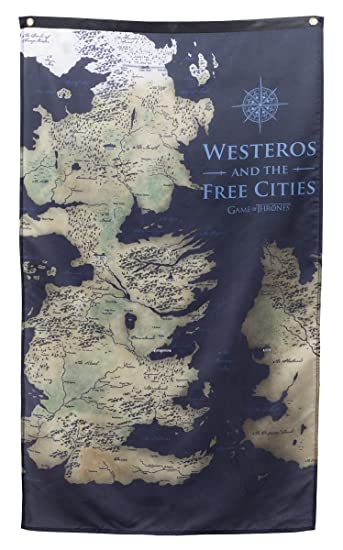 Amazon game of thrones wall banner 30 by 50 westeros map game of thrones wall banner 30quot by 50quot westeros map gumiabroncs Image collections