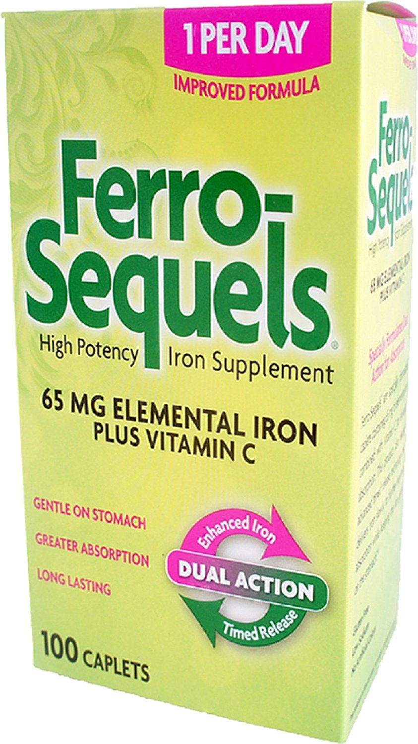 Ferro-Sequels Tablets 65 Mg 100 Tablets (Pack of 8)