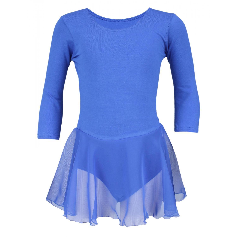 Aquarti Mädchen Ballettkleid 3/4 Arm Body mit Chiffon Rock