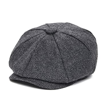 1c5c5ed930 JANGOUL Boys Vintage Newsboy Cap Tweed Flat Beret Cabbie Hat for Kids  Toddler Pageboy (48cm