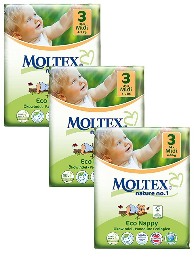 , 3 de la naturaleza de Bog in a bag Moltex nº 1 pañales de: Amazon.es: Salud y cuidado personal