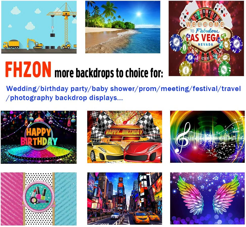 FHZON 7x5ft Birthday Party Photography Background Red Sports Car Racing Backdrop Rally Themed Party Wallpaper Racing Enthusiast Photo Booth Prop BJLHFH135