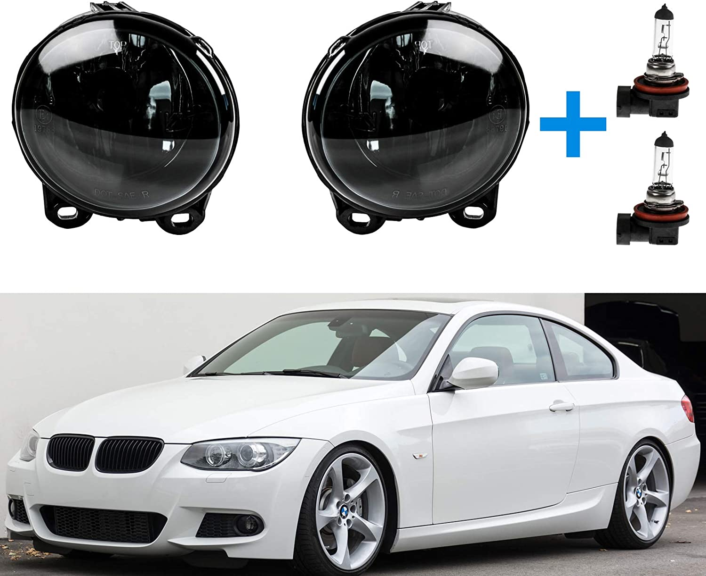 2 X Nebelscheinwerfer Schwarz Inkl 2 X H11 Lampe Für E53 E92 E93 F07 F10 F11 F22 F23 Auto