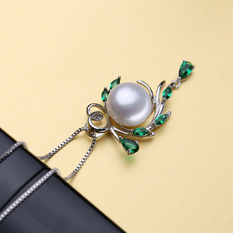 MMC Womens Necklaces Pendants Flower Beryl Bohemia Silver Jewelry