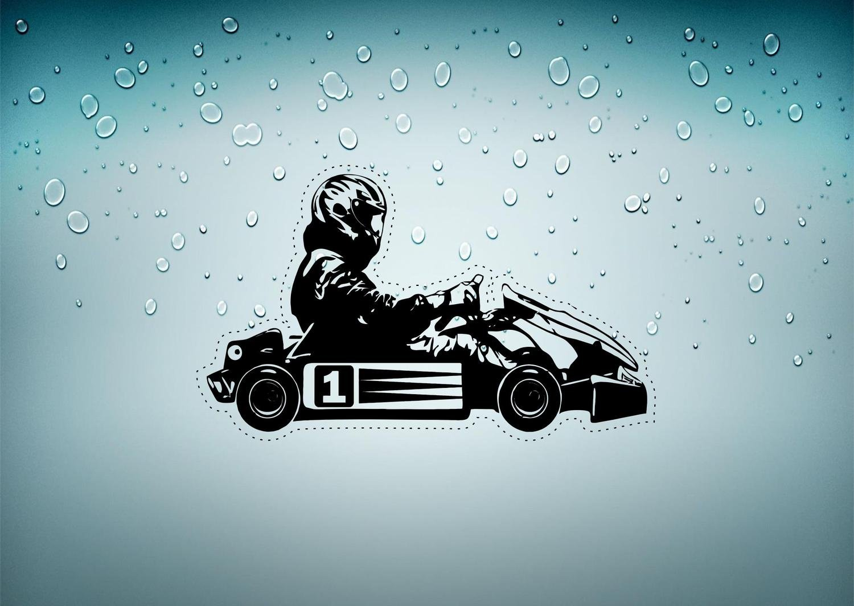 interesting autocollant sticker voiture chambre enfant kart karting pilote ref formule. Black Bedroom Furniture Sets. Home Design Ideas