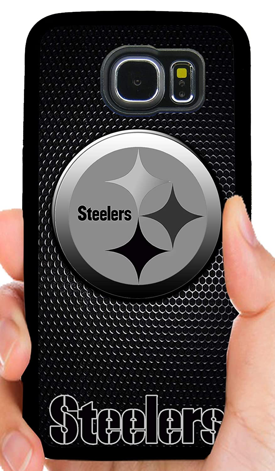 quality design b2938 e6786 Steelers Logo Blackout Football Phone Case Cover - Select Model