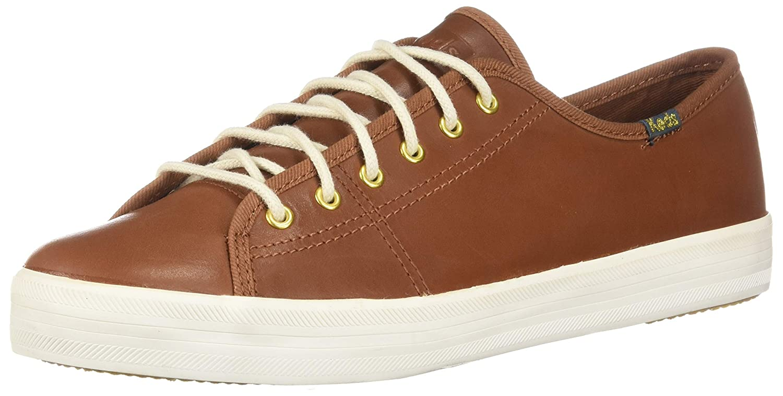 Cognac Keds Women's Kickstart Leather Sneakers