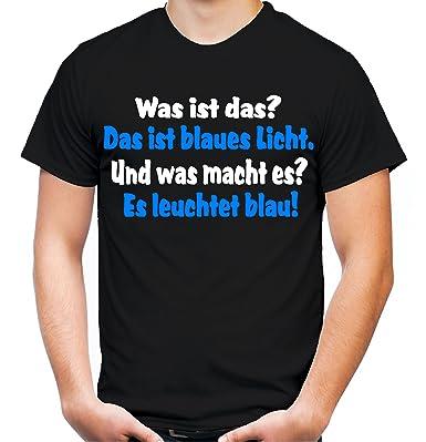 Blaues Licht Männer Und Herren T Shirt Spruch Sylvester Stallone