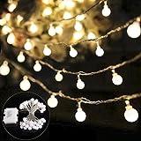 B-right® 40 LEDs Globe Lichterkette, LED lichterkette warmweiß, Globe String Licht Sternenlicht, Innen- und Außen Deko Glühbirne, Weihnachtsbeleuchtung für Weihnachten / Hochzeit / Party/Weihnachtsbaum.