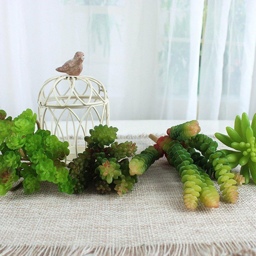 Plante Succulente Artificielle D/écoration pour Maison Vert