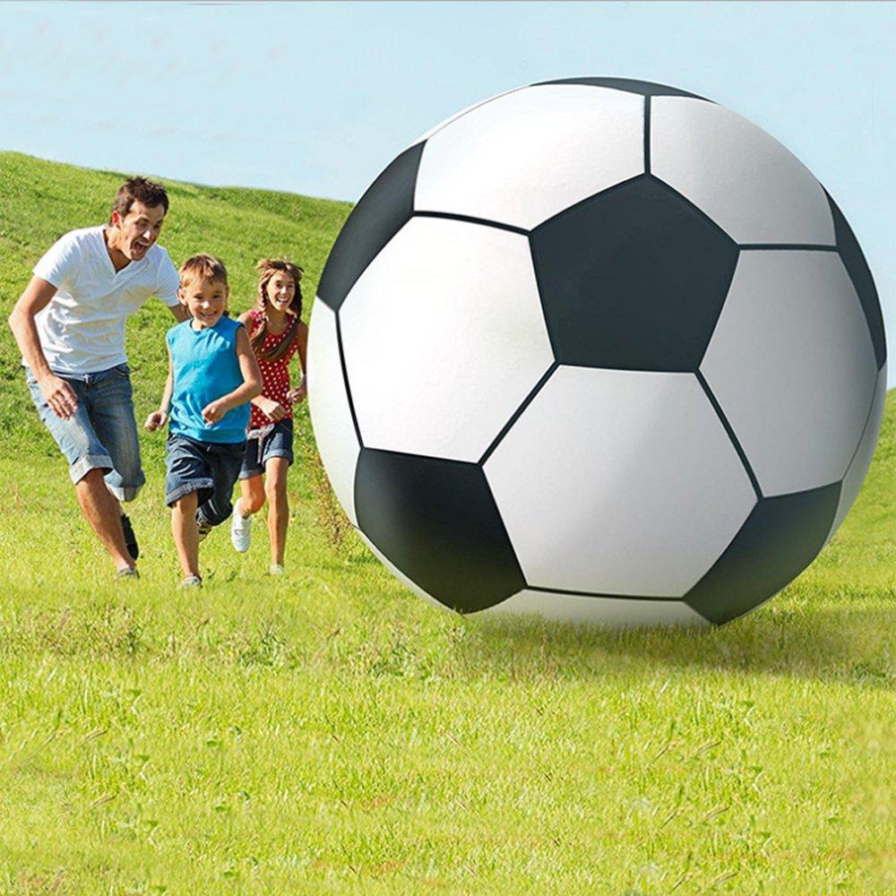 kofull overサイズGiant Inflatable Beach Ball Football with電動エアポンプ-- 9.84フィートTall B07DKCN5Q5