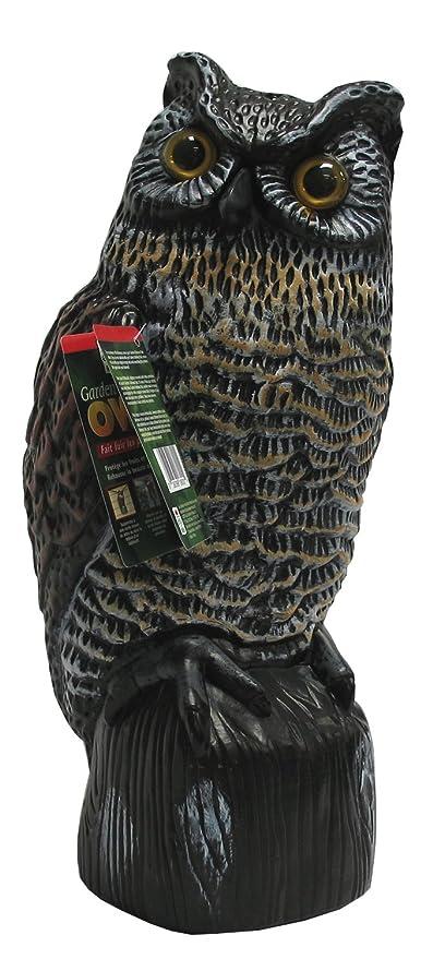 Beau Garden Defense Owl Decoy (Natural Bird Deterrent)