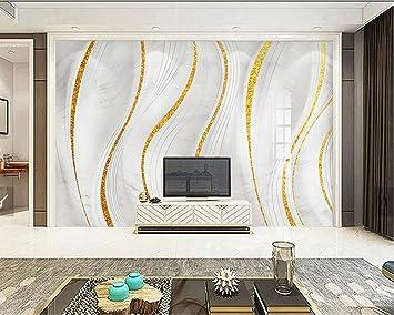 Yosot Benutzerdefinierte Fototapete 3D Gold Marmor Modernen ...