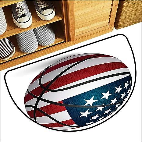 Amazon.com: Alfombra de baloncesto con patrón de círculos ...