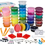 WIZOPLAY PolyClay Air Dry Clay Kit! 36 Colors Modeling Clay for Kids, Sculpting Clay Tools, Accessories, Case and…