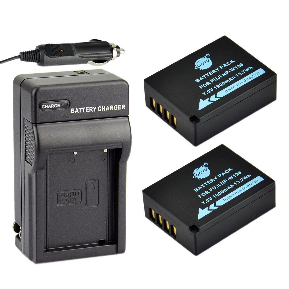 Amazon.com: DSTE 2 x NP-W126 Batería + DC129 de viaje y ...