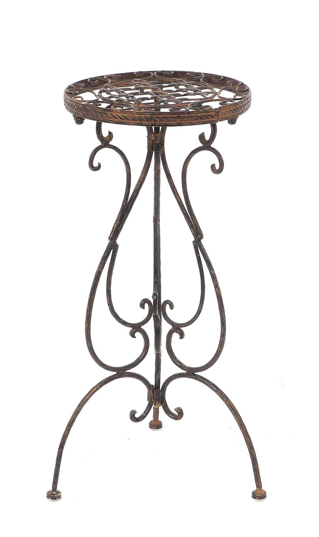 DK Tavolino 1853 porta fiori Sgabello Avis in ferro battuto h di 60 cm