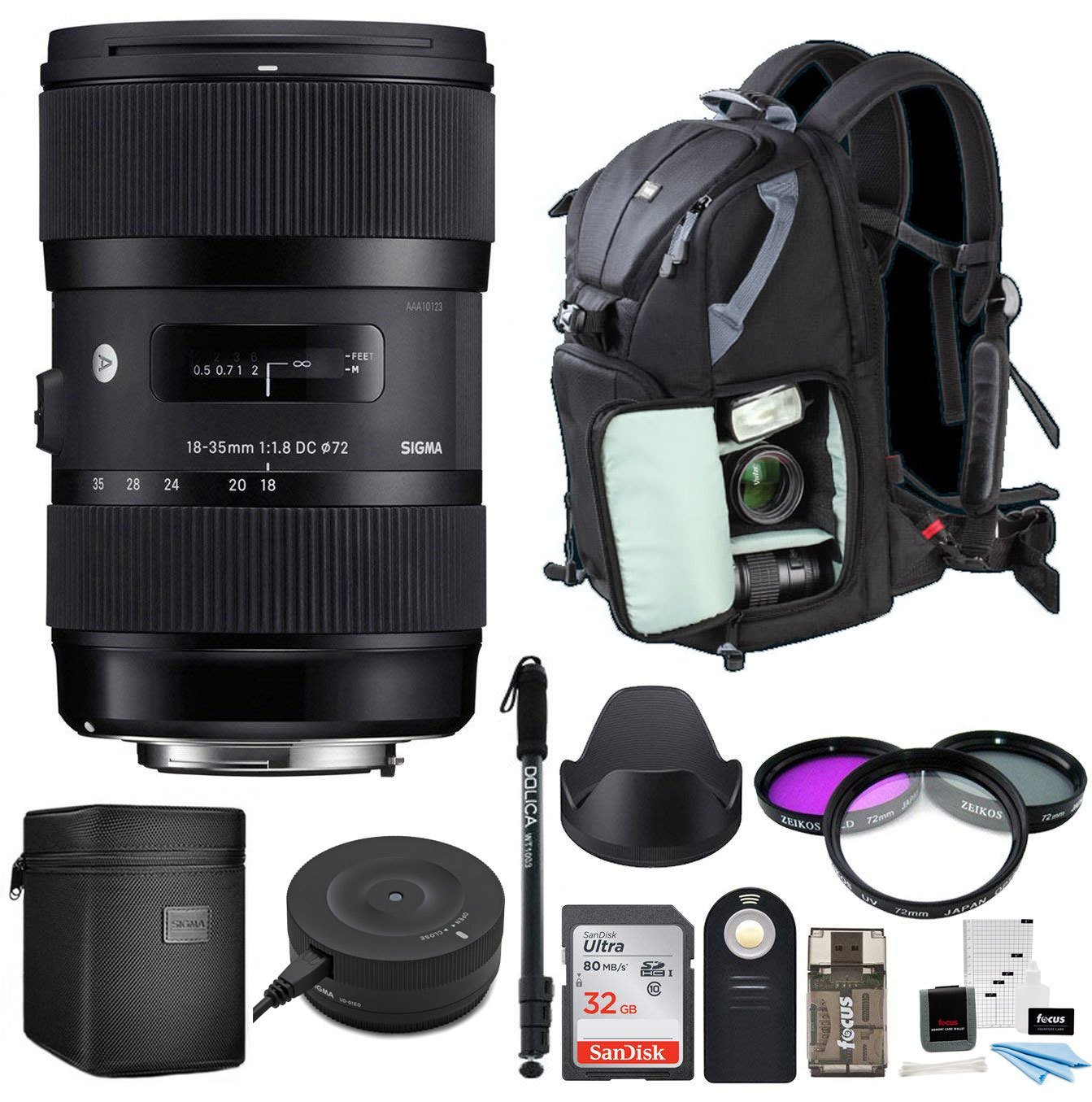 Amazon.com: Sigma 18 – 35 mm F1.8 DC HSM cámaras DSLR de ...
