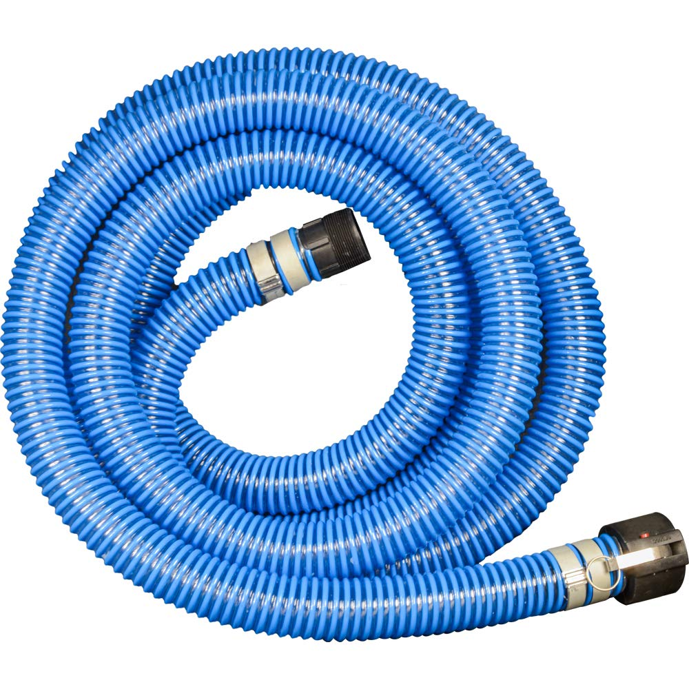 "Apache 98106503 PVC Suction Poly CX King Nipple Hose, 40 psi, 2"" Inside Diameter, Blue"