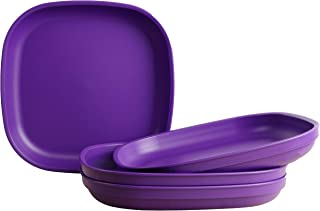 "product image for Re-Play Made in USA Recycled Products, Set of 4 (9"" Heavy Duty Dining Plate, Amethyst) Great for Outdoor, Camping, Party, Tailgating or Everyday Dining"