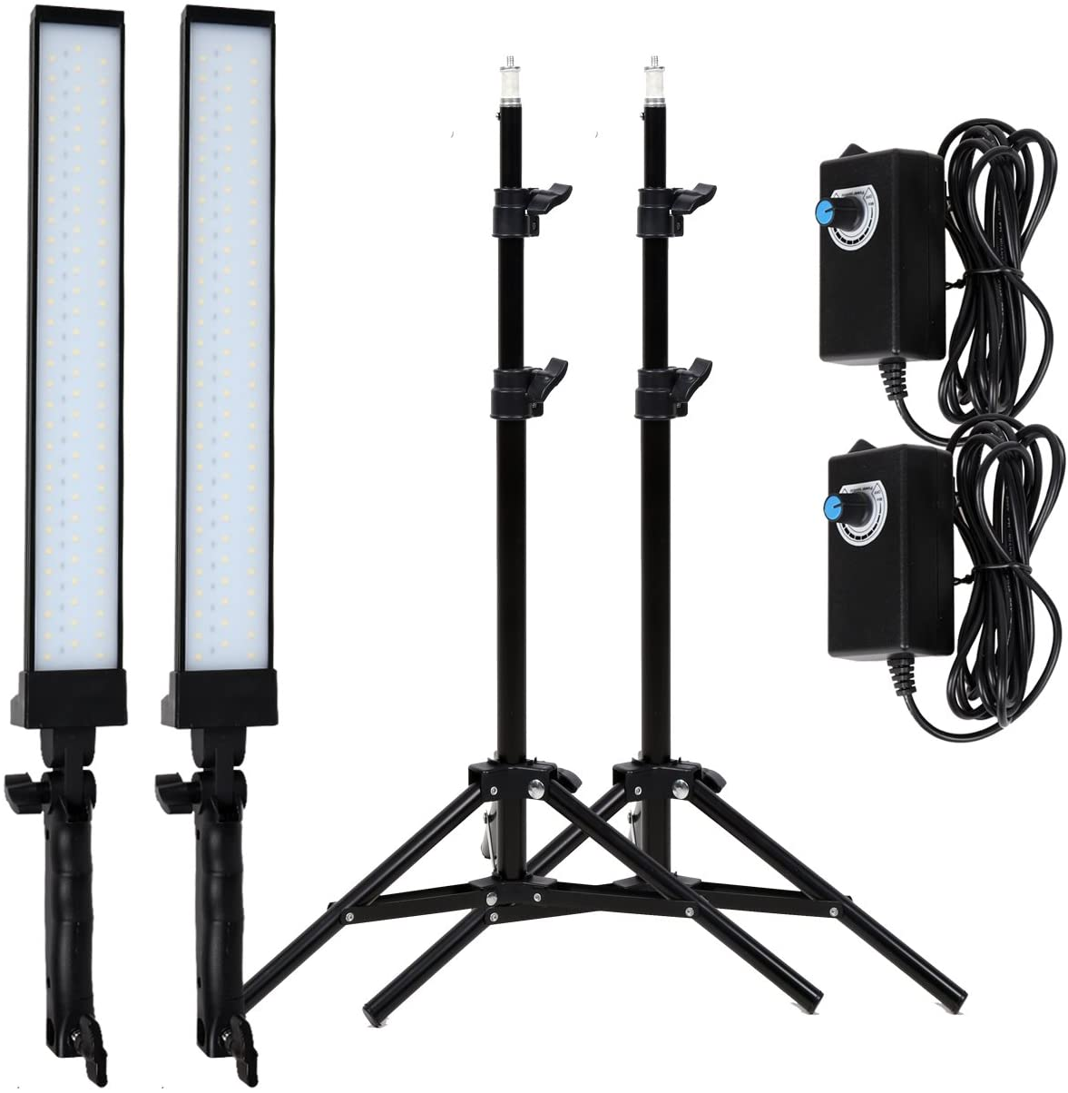 GSKAIWEN 180 LED Light Photography Studio LED Lighting Kit Adjustable Light with Light Stand Tripod Photographic Video Fill Light