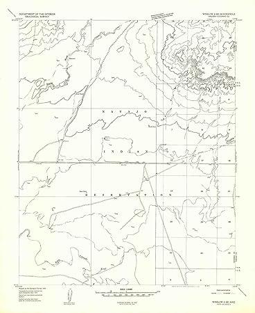 Amazon Com Yellowmaps Winslow 2 Se Az Topo Map 1 24000 Scale 7 5
