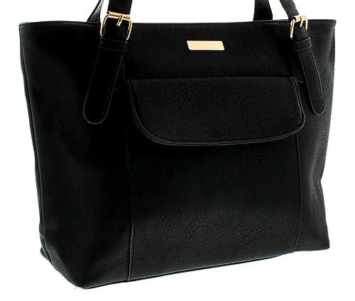 Nuevo Mujer Negro Top Con Cremallera Cierre Carteras - Negro - GB Tallas 1-1 - Negro, 33 EU: Amazon.es: Zapatos y complementos