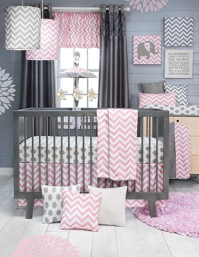 Glenna Jean Crib Skirt Swizzle Dust Ruffle for Baby Nursery Crib 13909