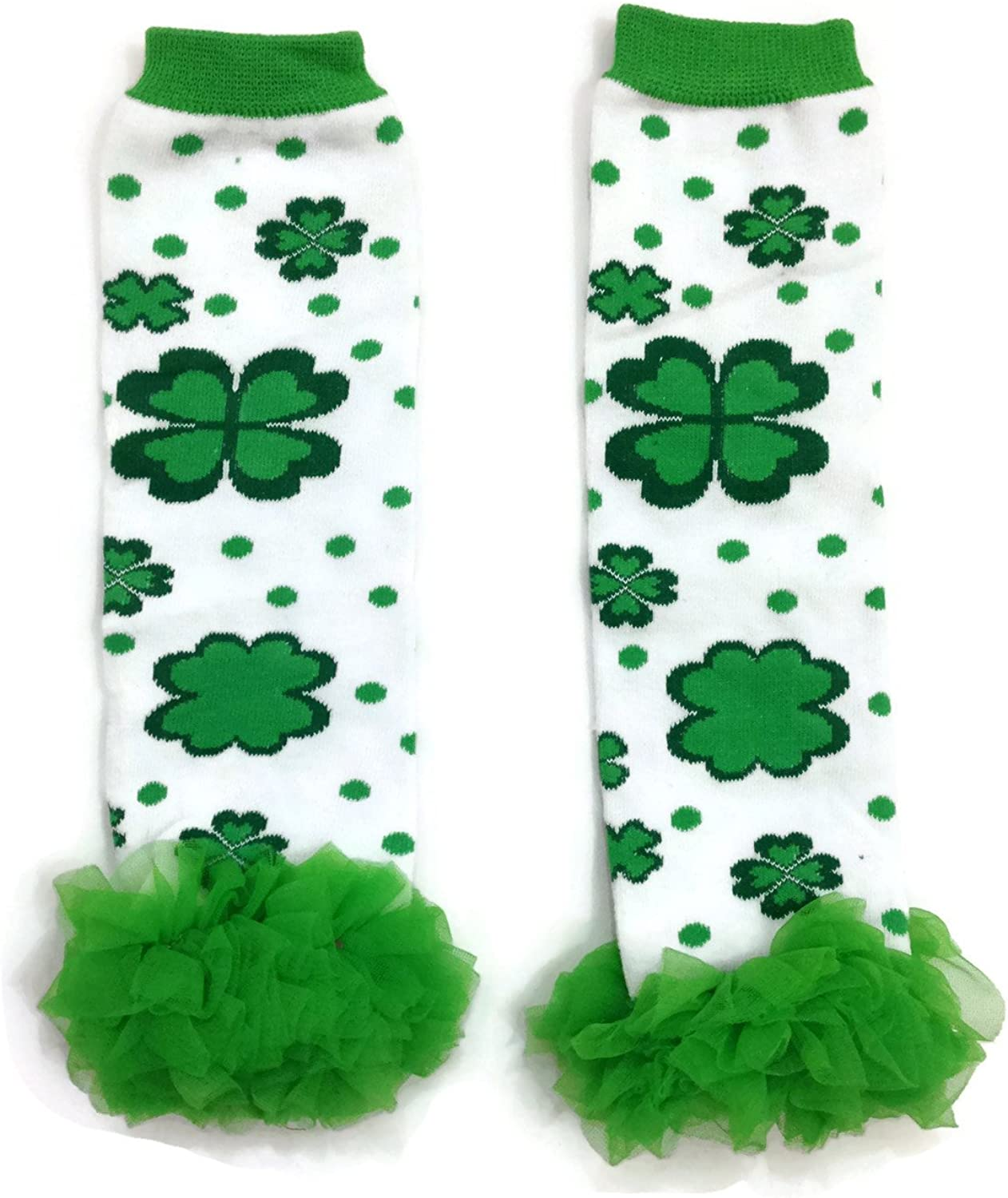 Rush Dance Clover Shamrock Ruffles St Patricks Day Baby//Toddler Leg Warmer
