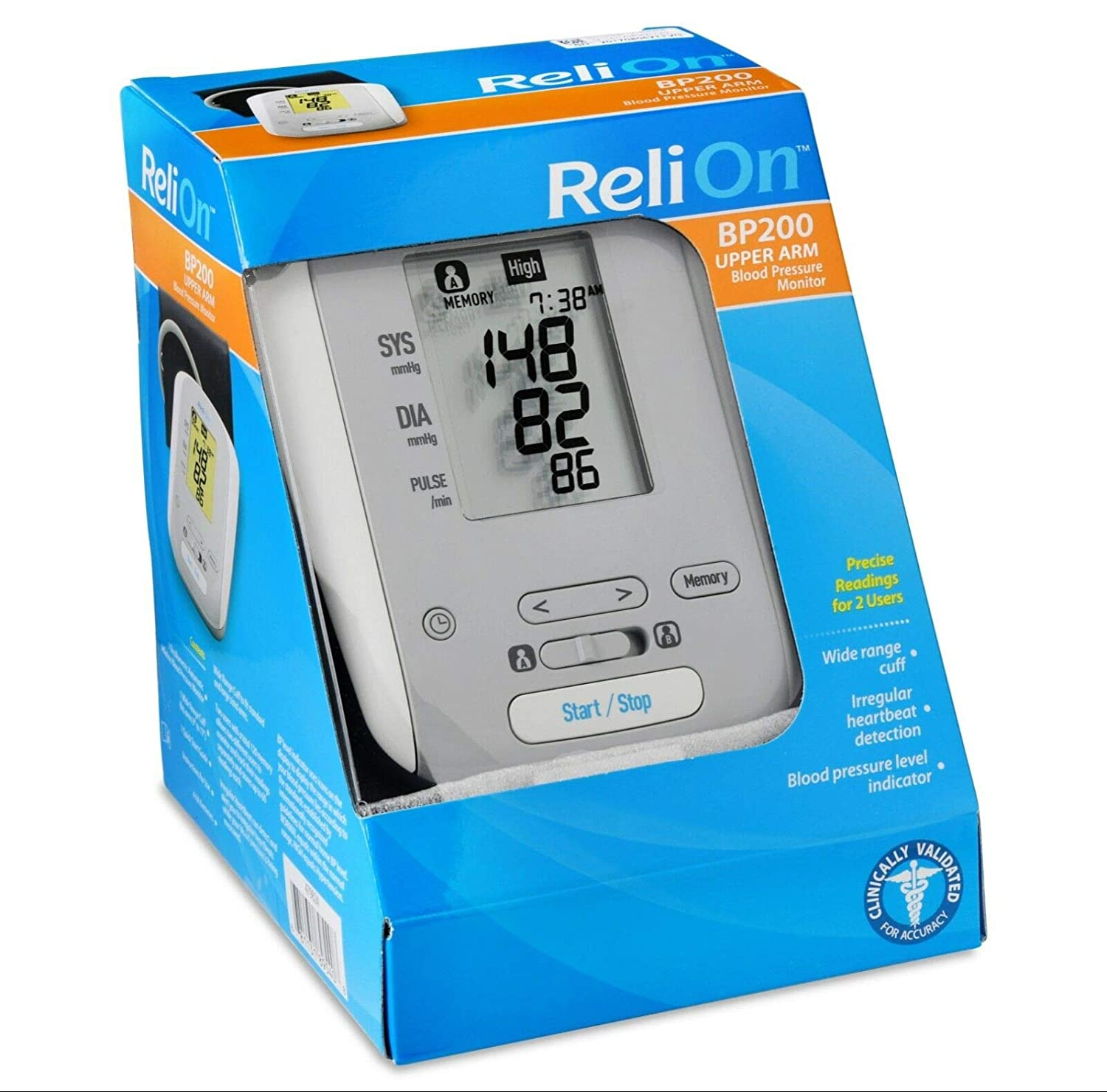 RELION RELI-ON AUTOMATIC BLOOD PRESSURE MONITOR HEM-741